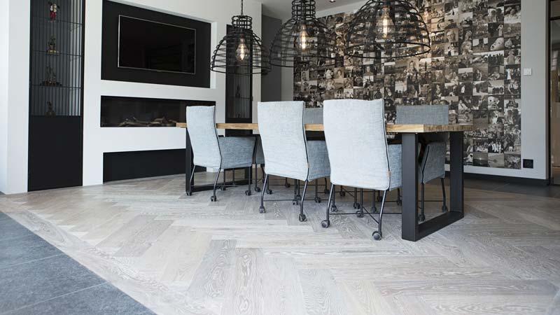 houten visgraat vloer eiken hout