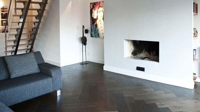 houten visgraat vloer modern klassiek