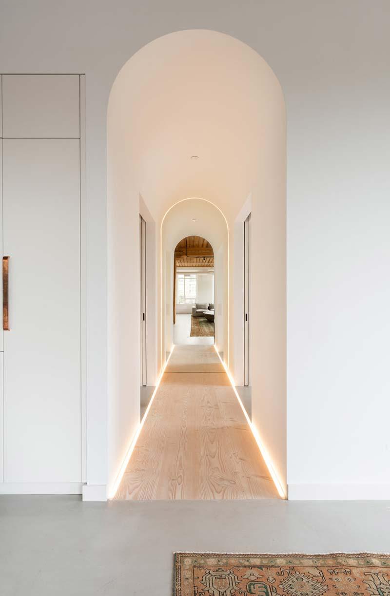 houten vloer led verlichting