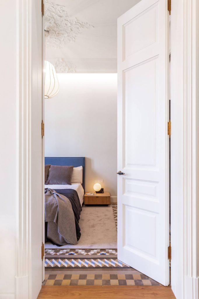 houten vloer tegels slaapkamer
