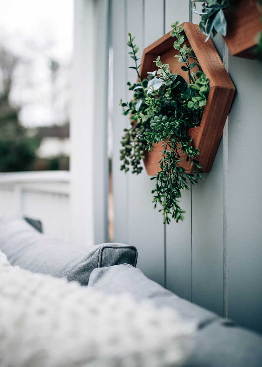 Houten wanddecoratie tuin