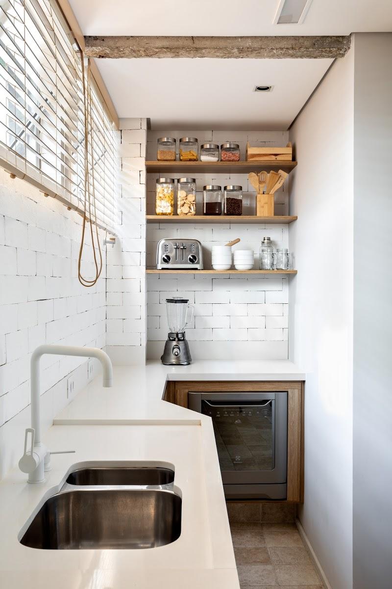 houten wandplanken keuken hoek