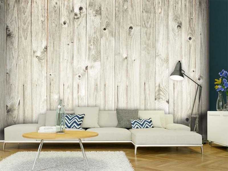 houtlook fotobehang woonkamer