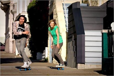 Huis & inrichting van Skateboarder Jay & Claire