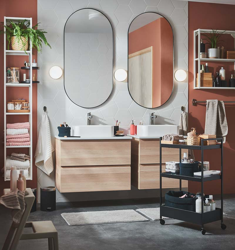 ikea catalogus 2021 badkamer dubbele wastafels