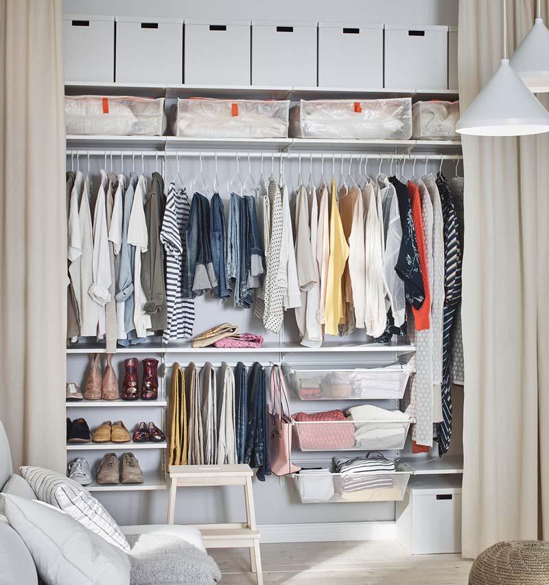ikea catalogus 2021 gezinswoning open kledingkast gordijnen