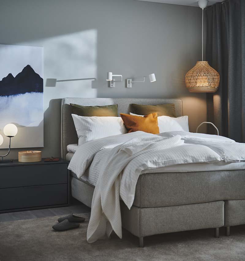 ikea catalogus 2021 slaapkamer grijs