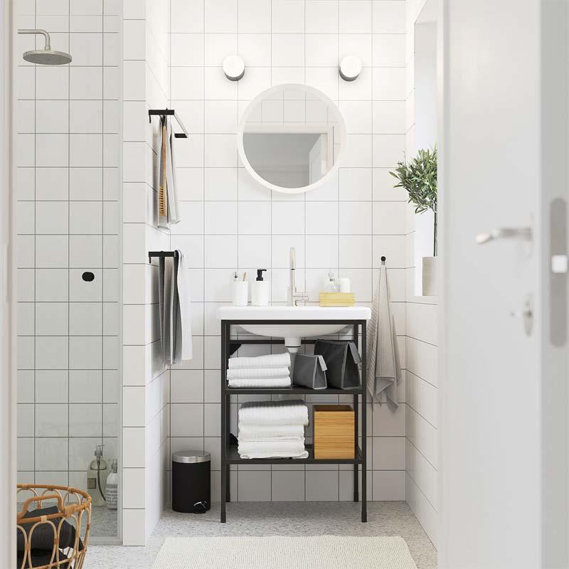 ikea enhet badkamer open kast wastafel