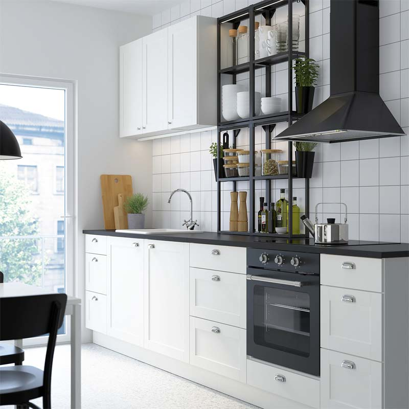 ikea enhet keuken landelijk wit