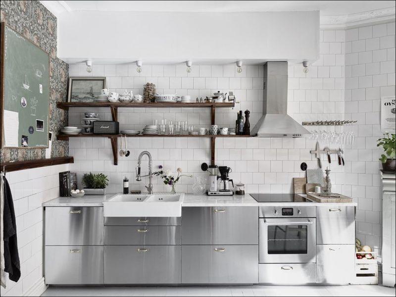 IKEA keuken industrieel RVS