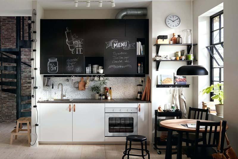 IKEA keukens krijtdeur leren deurgrepen