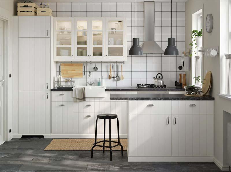 Landelijk witte IKEA keuken