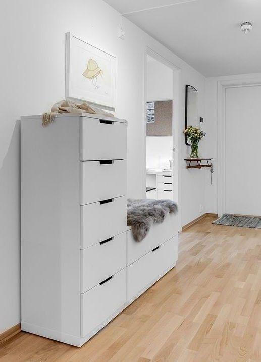 IKEA Nordli schoenenkast met bankje