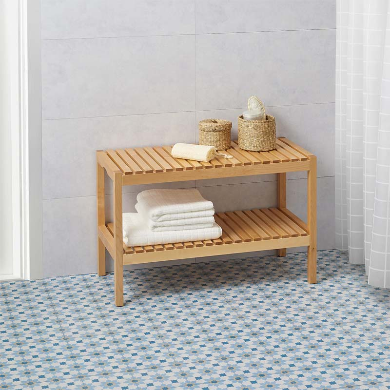 Plaktegels IKEA Markyta wit spectrum steenpatroon badkamer
