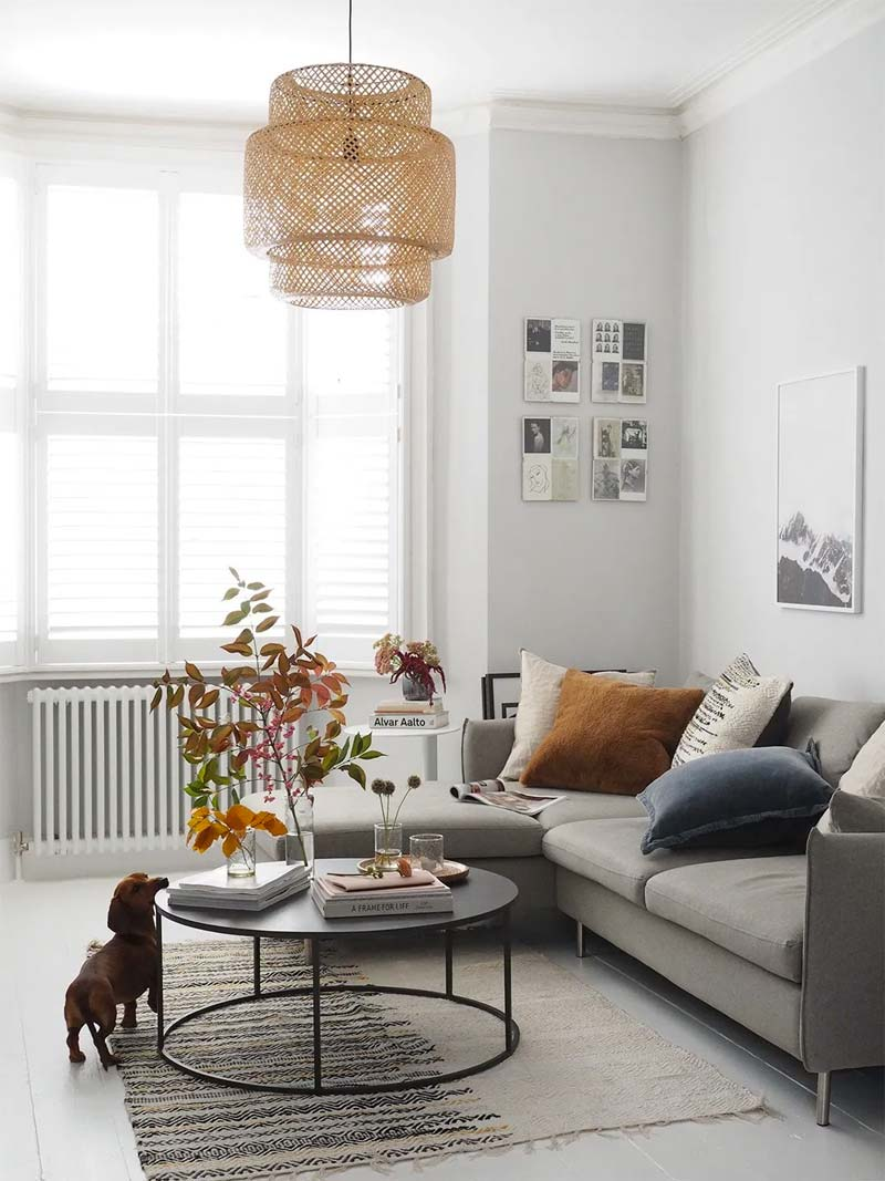IKEA Sinnerlig hanglamp boven salontafel