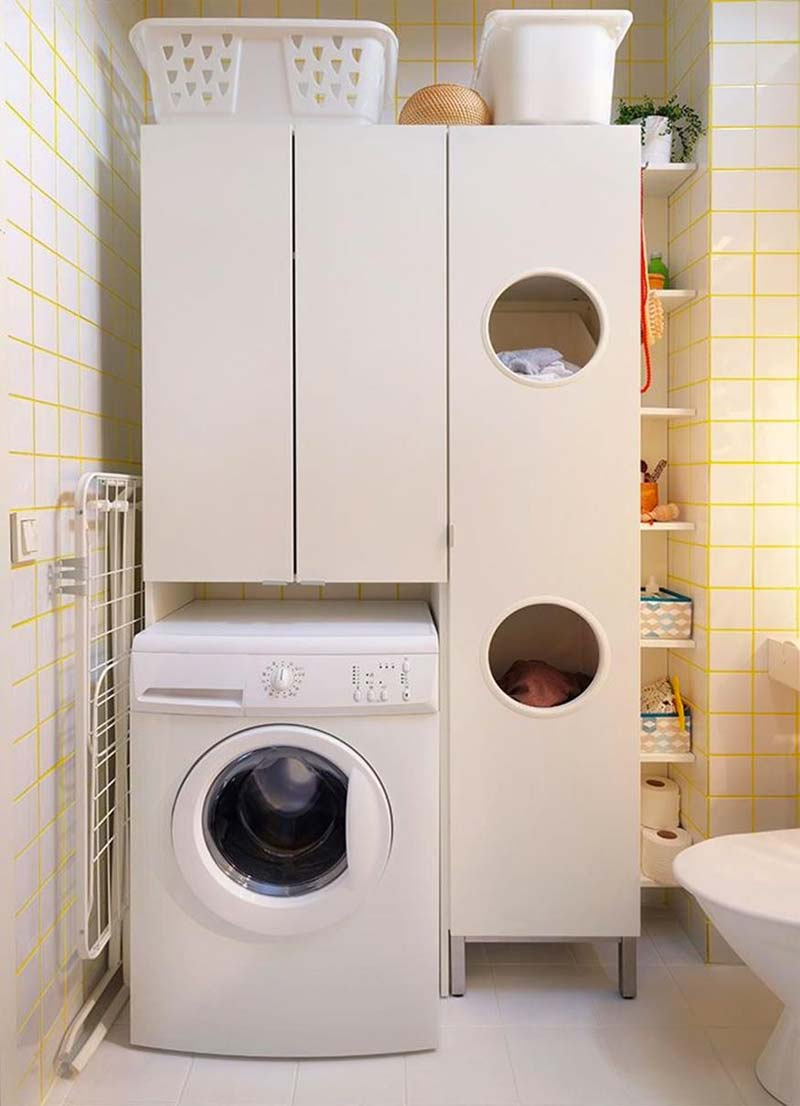 ikea wasmachine kast