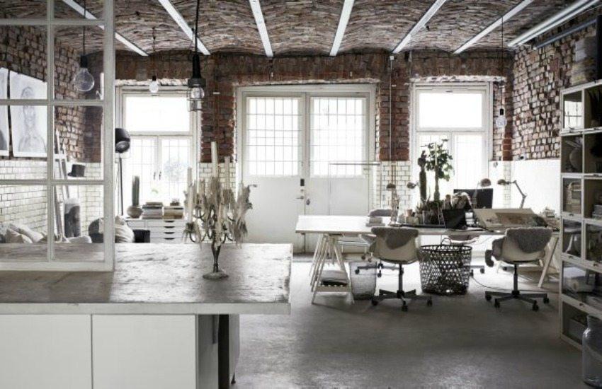 Industrieel loft kantoor