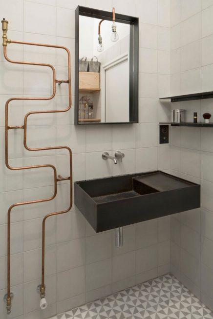 Kleine industri le badkamer in loft inrichting - Indus badkamer ...