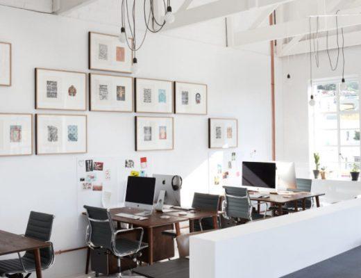 Industrieel vintage kantoor van reclamebureau Radar