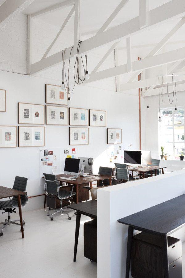 Industrieel vintage kantoor van reclamebureau radar inrichting - Lay outs oud huis ...