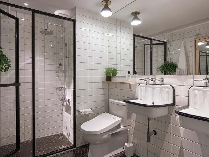 industriele deur badkamer