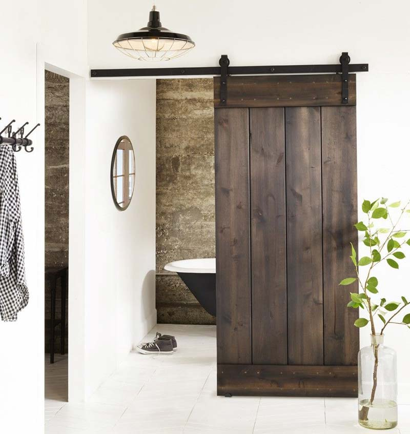 industriële deur hout