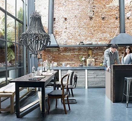 Industriële keuken omgebouwde fabriek Amsterdam