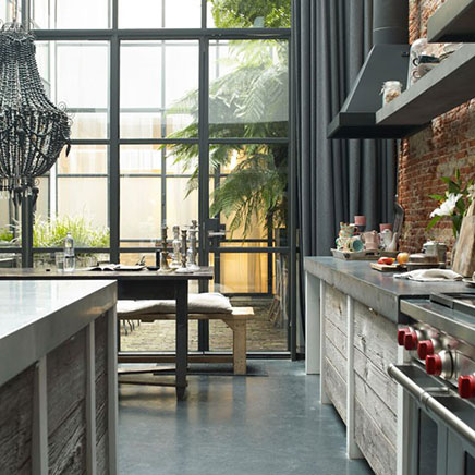 Industrial Kitchen Converted Factory Amsterdam