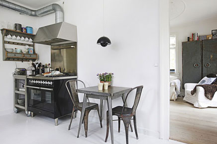 industriële keuken in een scandinavisch huis | inrichting-huis, Deco ideeën