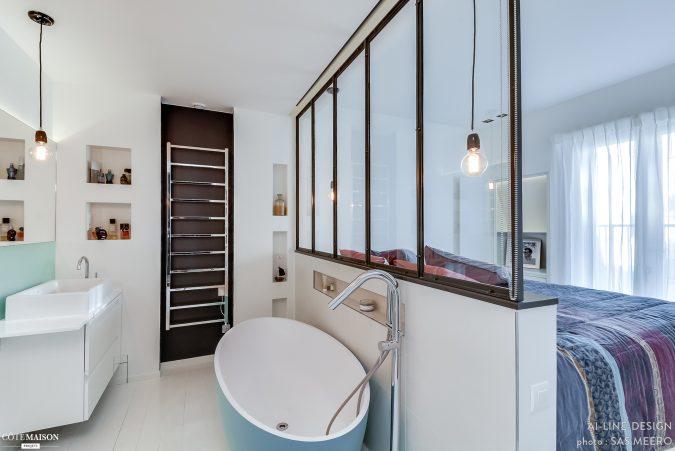 industrile scheidingswand tussen slaapkamer en badkamer inrichting huiscom