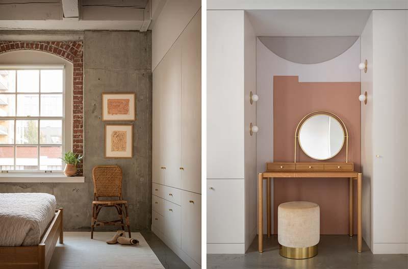industriële slaapkamer kleuren