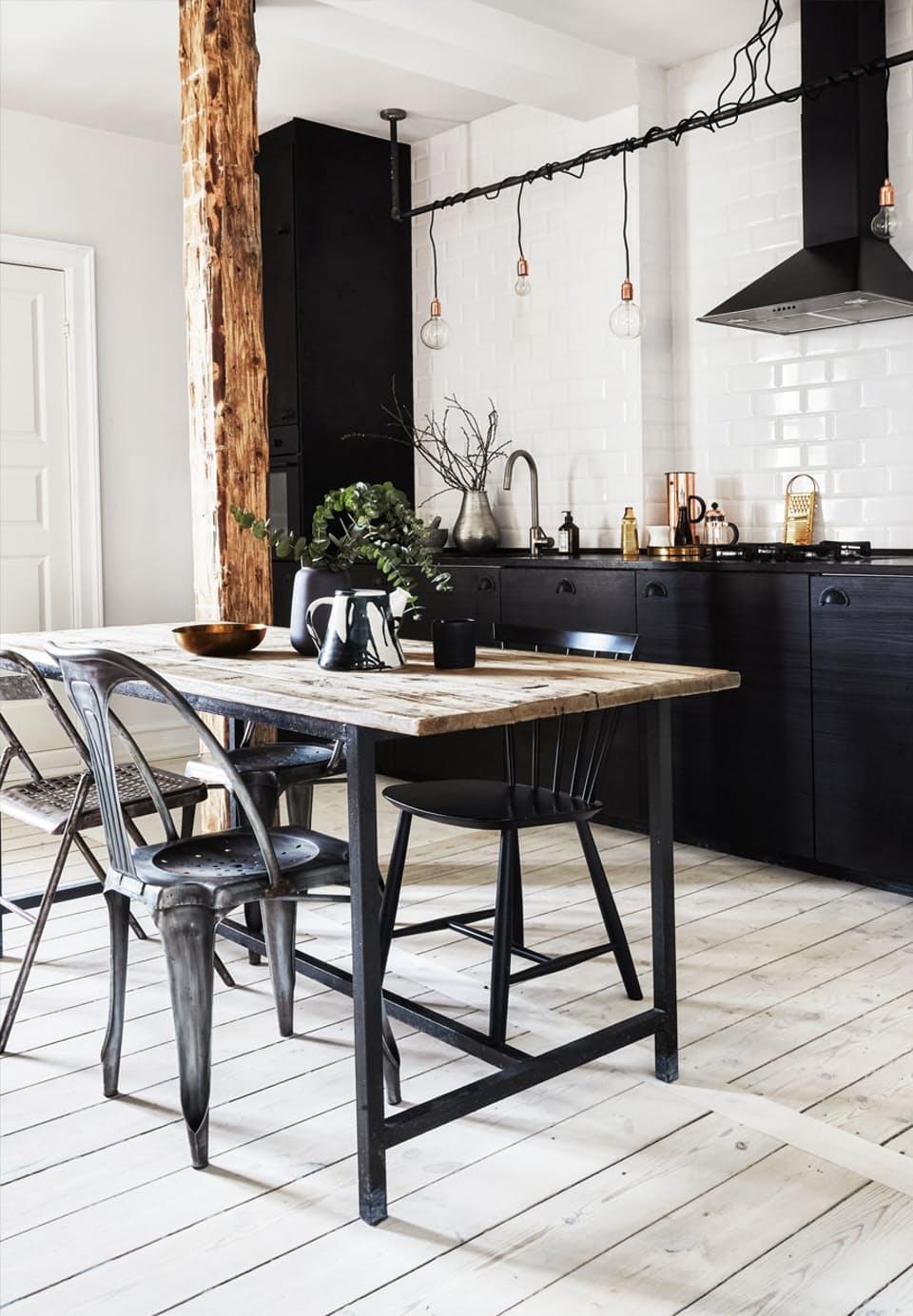 industriele-tafel-staal-hout