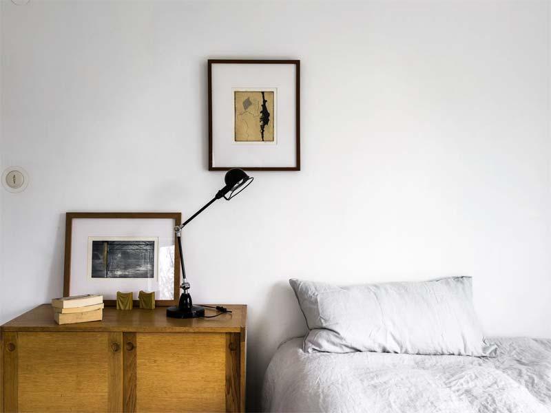 industriele tafellamp nachtkastje slaapkamer