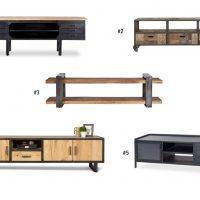 5x Industriële TV meubels