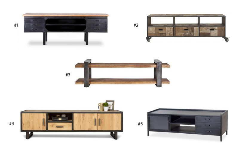 Industriële TV meubels