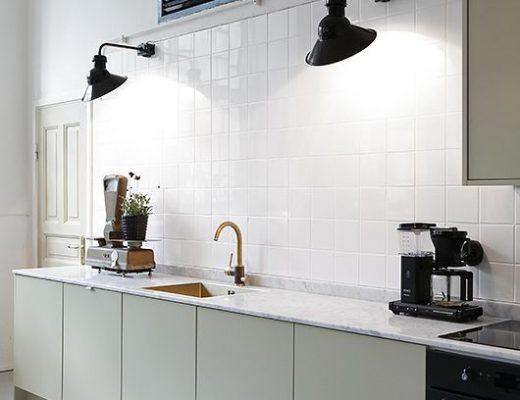Industriële wandlampen keuken