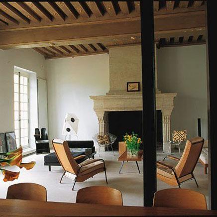 Industriële woonkamer van appartement in Parijs