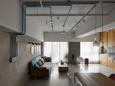 Industriële woonkamer uit Taiwan