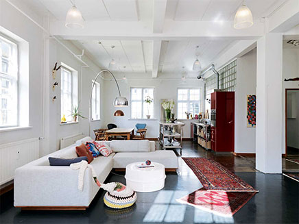 Industrial living room former pencil factory inrichting - Inrichting woonkamer ...