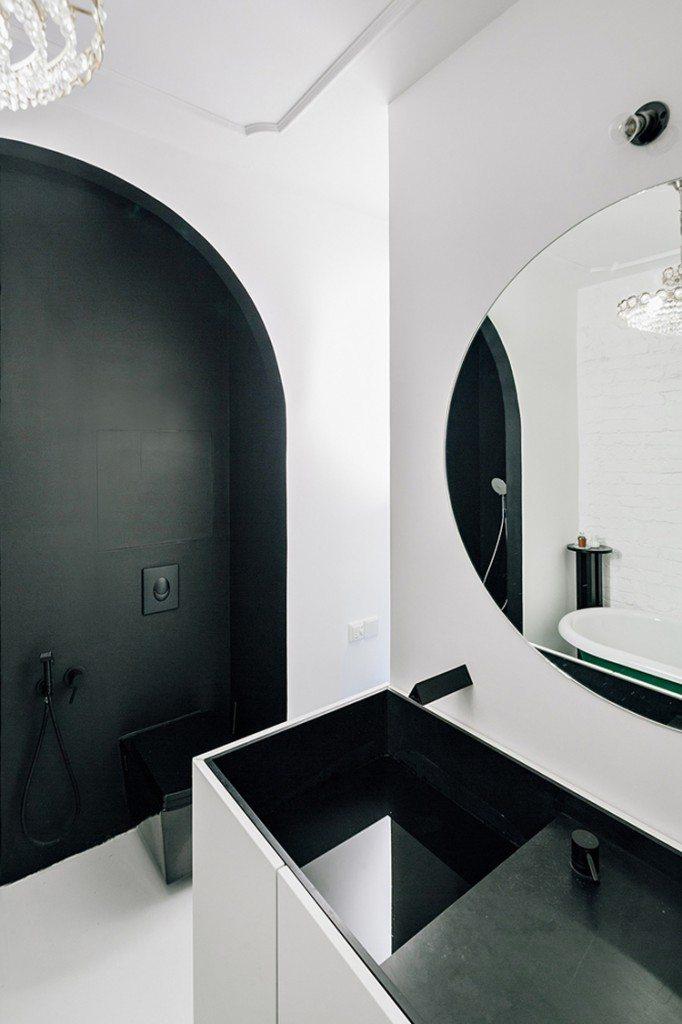 Badkamer met klassiek tintje
