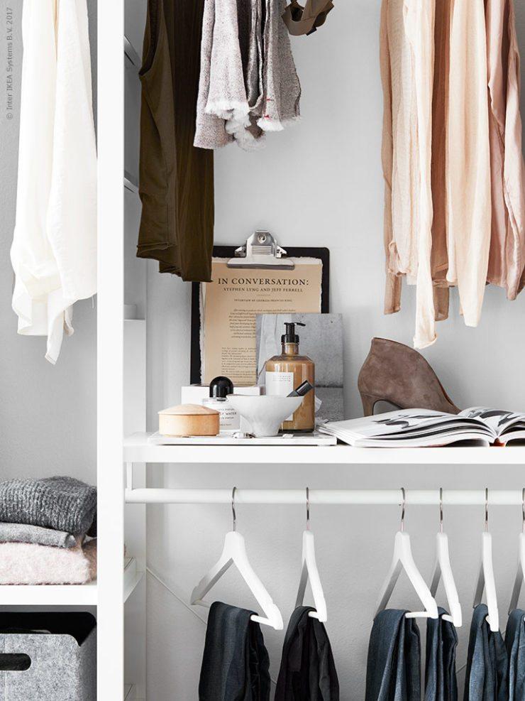 Inloopkast inrichten van IKEA ELVARLI