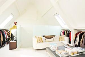 Inloopkast suite op zolder