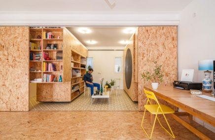 Inrichting van een flexibel appartement in Madrid