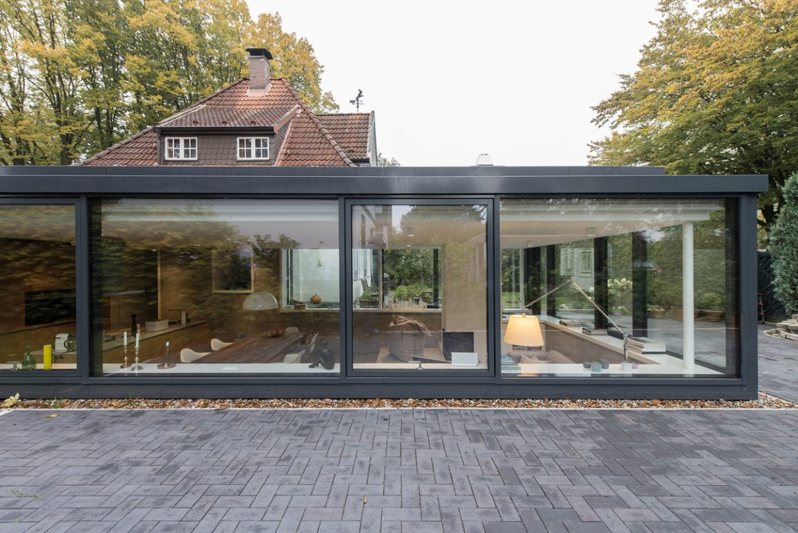 Inspirerende aanbouw aan monumentaal pittoresk huis