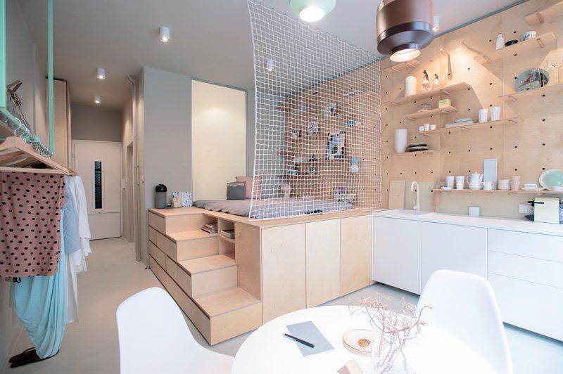 Inspirerende multifunctionele meubels in kleine appartementen