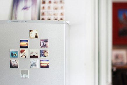 Instagram foto's aan de muur