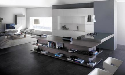 integratie van keuken en woonkamer | inrichting-huis, Deco ideeën