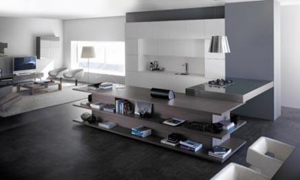 Integratie van keuken en woonkamer