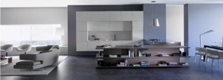 Integration von Küche und Wohnzimmer