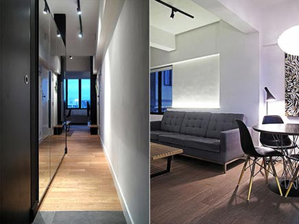Interieur inrichting van klein appartement in hong kong inrichting - Layout klein appartement ...